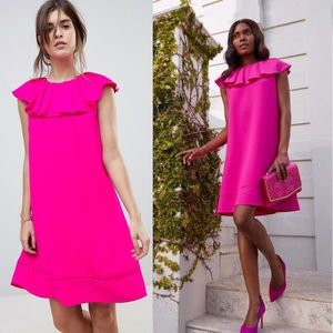 Ted Baker London Shift Dress with Ruffle Neckline